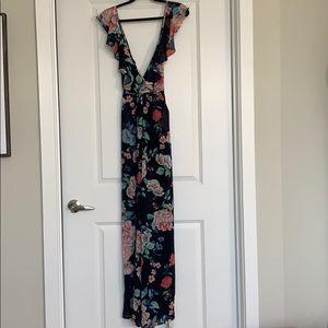Yumi Kim navy floral jumpsuit